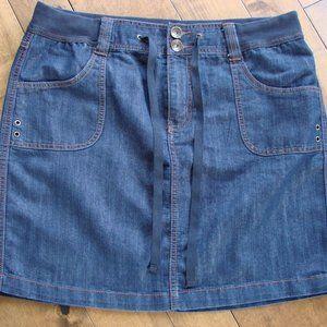 Faded Glory Dark Denim Jean Skirt